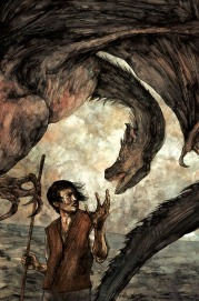 Illustration from Folio Society edition of A Wizard of Earthsea