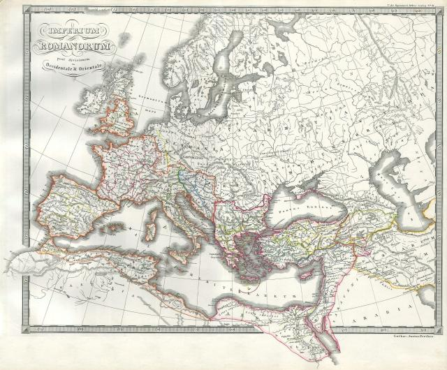 1850_Map_of_the_Roman_Empire_as_Divided_into_East_and_West_(Ancient_Rome)_-_Geographicus_-_RomeDivided-spruneri-1850