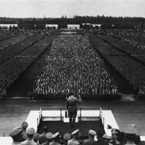 Hitler's Nazi party convention is underway in Nuremberg, Germany, Sept. 10, 1935. (AP Photo)