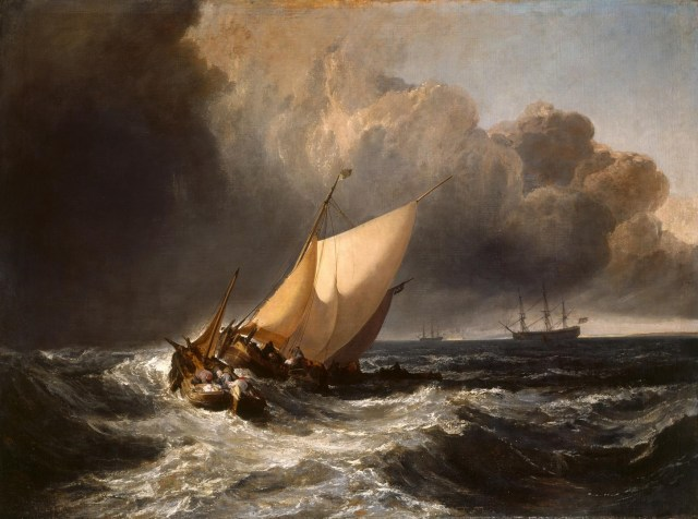 JMW Turner Dutch Boats in a Gale