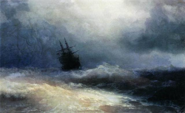 ship-in-a-storm-1887 Aivazovsky